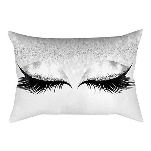 30x50cm Cushion Cover Eyelash Out Soft Velvet Marble Pillow Cases (G)