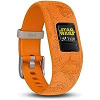 Garmin Vivofit Junior 2- Lado Luminoso Pulsera de Actividad para Niños, Ajustable, Color Naranja,Talla Única