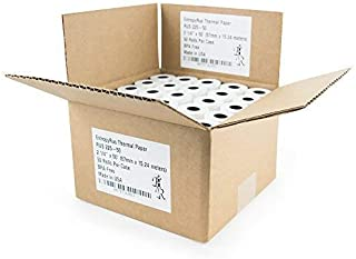 Thermal Paper Rolls 2 1 4 x 50 - (50) CC Receipt Paper per Pack | BPA Free for POS terminals: Verifone Vx520 | Ingenico Ict220 Ict250 | First Data fd400 | Clover Mini Flex Mobile | Way System