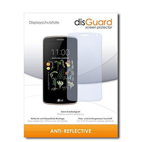disGuard® Bildschirmschutzfolie [Anti-Reflex] kompatibel mit LG K5 [2 Stück] Entspiegelnd, Matt, Antireflektierend, Extrem Kratzfest, Anti-Fingerabdruck - Panzerglas Folie, Schutzfolie
