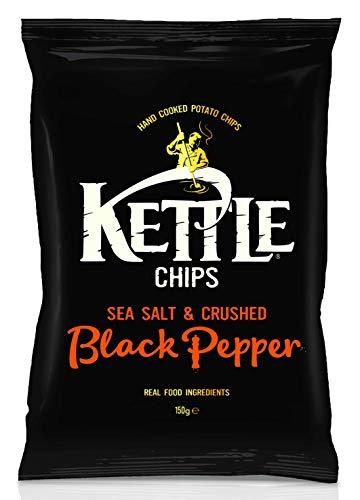 Kettle Chips Patatine al Pepe Nero - 4 pacchi da 150 g