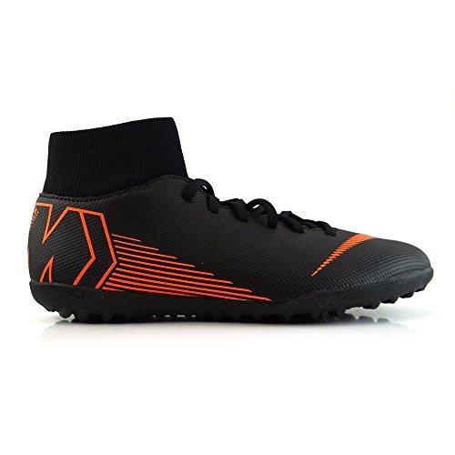 Nike Unisex-Erwachsene Mercurial Superfly X 6 Club TF AH7372 08 Fitnessschuhe, Mehrfarbig (Black/Total Orange W 081), 42.5 EU