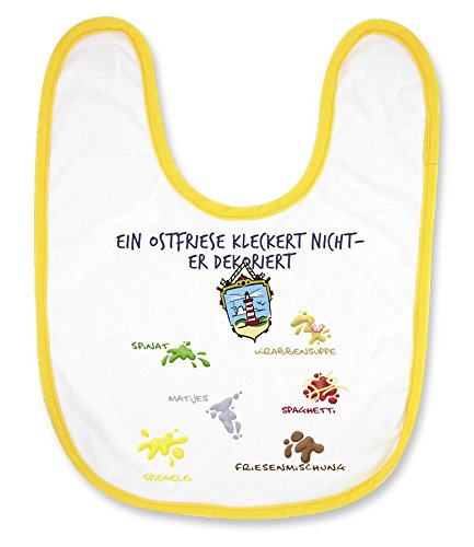 """Babylatz""""Ein Ostfriese kleckert nicht - er dekoriert"""" - als Geschenk für Nachwuchs-Nordlichter oder als Souvenir - die stadtmeister"""