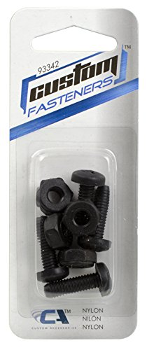 Custom Accessories 93342 Black Nylon License Plate Fastener
