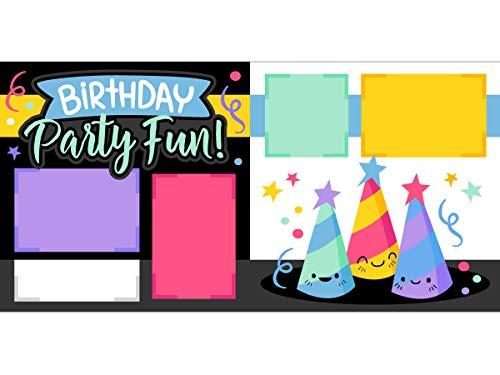 Diversión de fiesta de cumpleaños. Kit de páginas para álbumes de recortes.