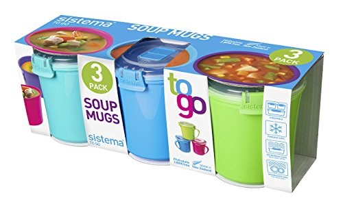 Sistema Set Of 3 Soup Mugs