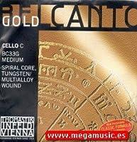 CUERDA VIOLONCELLO - Thomastik (Belcanto Gold BC 33G) (Wolframio) 4ェ Medium Cello 4/4 (Do) C