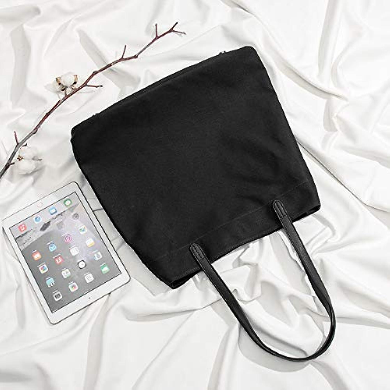 WANGZHAO Canvas Bag, Female Bag, Shoulder Bag, Girl, Korean Version, Large Capacity Art Bag.