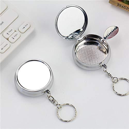 SHUNHUI Aschenbecher Mit Schlüsselbund Mini Tragbare Metall Kleinen Aschenbecher Runde Umweltfreundliche Aschenbecher Freund
