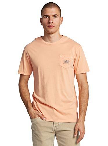 Quiksilver Sub Mission-T-Shirt avec Poche pour Homme, Coral Sands, FR : L (Taille Fabricant : L)