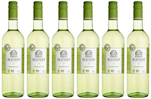 Sontino BioVegan Chardonnay Halbtrocken (6 x 0.75 l)
