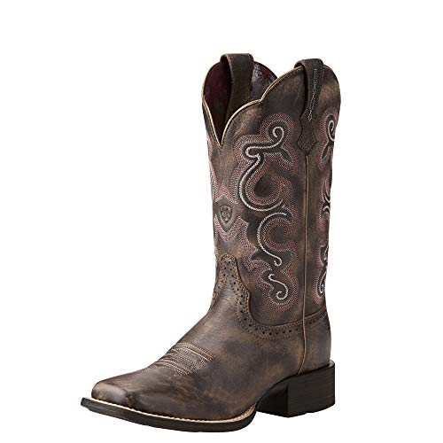 ARIAT womens Quickdraw Western Boot, Tack Room Chocolate, 9 US