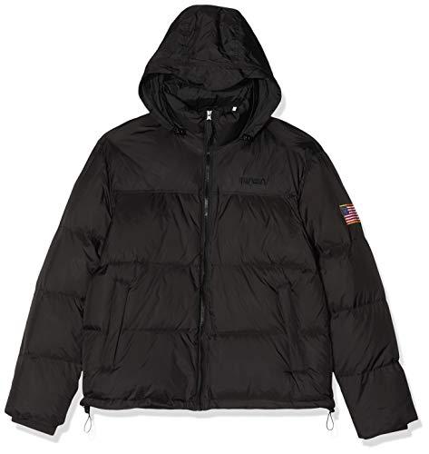 Mister Tee Herren NASA Two-Toned Puffer Jacket Jacke, Schwarz (Black 00007), Small (Herstellergröße: S)