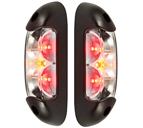 2 x LED Umrissleuchte Begrenzungsleuchte Positionsleuchte 12-24V, 3 Farben: weiß, rot, orange für LKW PKW Anhänger, Trailer, Wohnwagen usw.