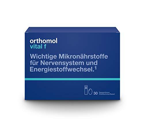 Orthomol vital f 30 Trinkampullen & Kapseln - Vitamin Komplex im Trinkfläschchen für Frauen bei Müdigkeit & Erschöpfung