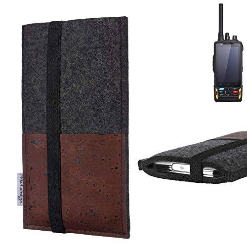 flat.design Handy Hülle Sintra für Ruggear RG760 Handytasche Filz Tasche Schutz Kartenfach Case braun Kork