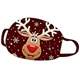GJKK Erwachsene Mundschutz WeihnachtsMund Und Nasenschutz Waschbar Wiederverwendbar Stoff Sport Staubdicht Weihnachten mit Motiv Bandana Halstuch (0