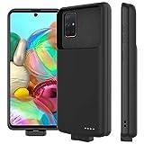 LifeePro Compatible avec Samsung Galaxy A71 Coque Batterie, 7000mAh Rechargeable Externe Chargeur de Batterie Power Bank Coques d'alimentation Extra Backup Housse Batterie de Secours Noir