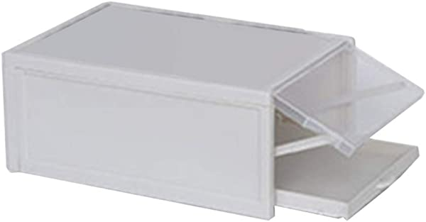 Friendgo 2019 New Shoe Storage Box Pull Out Drawer Type Shoe Box Transparent Plastic Shoe Storage Box