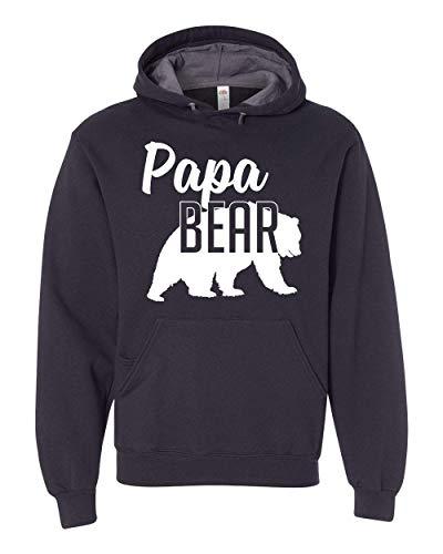 Papa Bear Hoodie Dad Mens Soft Hoodie Adult Unisex Sweatshirt Black