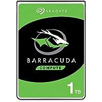 Seagate BarraCuda, 1 TB, Unidad de disco duro interna, HDD, 2.5 in, SATA 6 Gb/s, 5400 r.p.m., caché de 128 MB para ordenador portátil y PC (ST1000LM048)