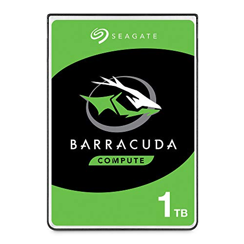 Seagate BarraCuda - Disco duro interno de 1 TB (2,5', 7 mm, 128 MB de caché SATA 6 GB/s hasta 140 MB/s) Negro