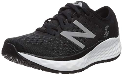 New Balance Women's 1080v9 Fresh Foam Running Shoe, Black/White, 11 M US
