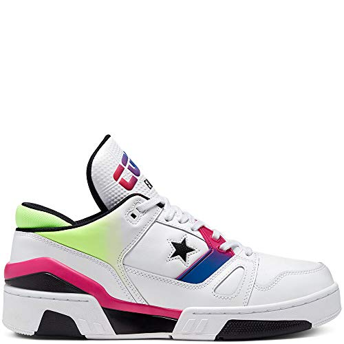 Converse Unisex ERX 260 Neon Psychedelic Hoops Low Top White/Cerise Pink/Black (Numeric_7)
