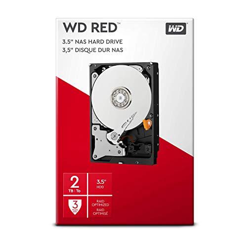 WD Red 2TB interne Festplatte SATA 6Gb/s 64MB interner Speicher (Cache) 8,9 cm 3,5 Zoll 24x7 5400Rpm optimiert für SOHO NAS Systeme 1-8 Bay HDD RETAIL WDBMMA0020HNC-ERSN