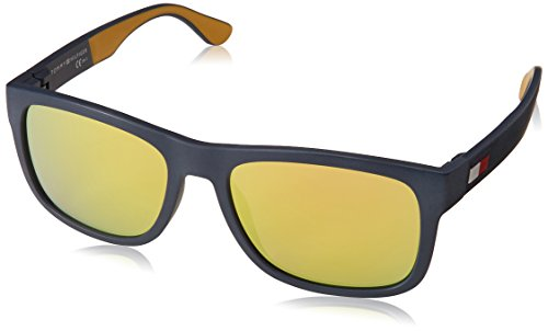Tommy Hilfiger Men's TH1556/S Rectangular Sunglasses, BLU YELL, 56 mm