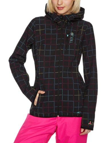 O'Neill Damen Softshell Jacke PW Azurite HYPERFLEECE, Black AOP, L, 155305-9900-L