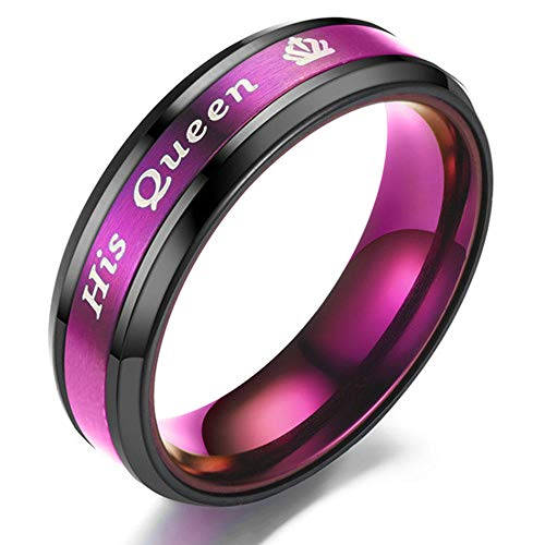 PLKN Anillos de acero de tungsteno para hombre, anillo de tungsteno negro mate acabado biselado borde pulido comodidad, anillos de boda para hombres y mujeres-B_8#