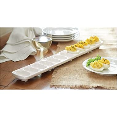 Mud Pie Deviled Egg Tray Set, White