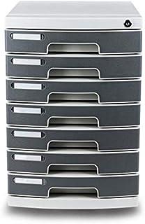 LJJSMG Locking Drawer Cabinet Desk Organizer-Home Office Desktop File Storage Box w/7 Lock Drawers,Great for Filing&Organizing Paper Documents,Tools,Kids Craft Supplies