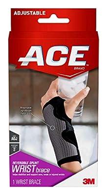 ACE Reversible Splint Wrist Brace, Satisfaction Guarantee, One Size Fits Most