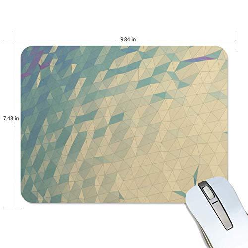 Grappige muismat muizen pad Gepersonaliseerd geometrisch behang rechthoekige vorm non-lip Rubber Backing voor Office Computer Work
