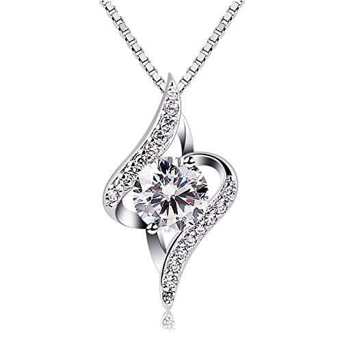 B.Catcher Kette Damen Halskette 925er Silber Anhänger \'\'Sternennacht\'\' Valentinstag Geschenk Schmuck 45CM Kettenlänge