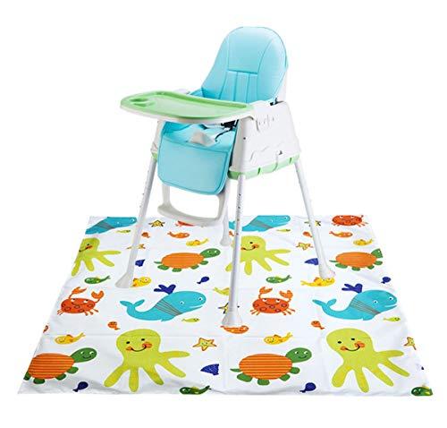 """Xinyanmy Baby Mahlzeit Bodenschutz,Schmutzschutz Unterlage unter Hochstuhl für Kinder Fütterung Fußboden Abdeckung Splash Mat,110 x 110cm/43.3 x 43.3\"""""""