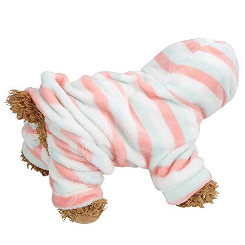 DAUERHAFT Suéter navideño para Mascotas, Rayas Rojas y Verdes Otoño Invierno Sudaderas con Capucha para Mascotas, para Perros y Gatos pequeños a Grandes para lucir más Hermosos(XL)