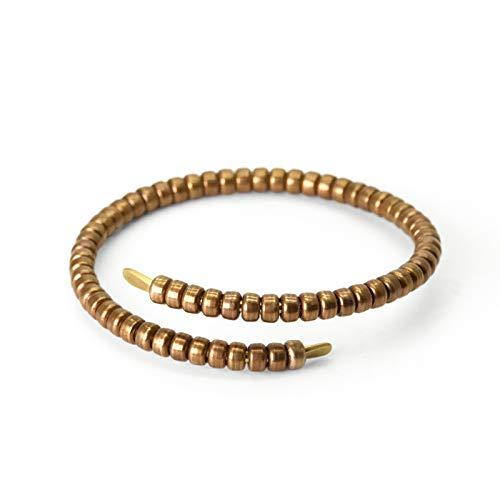 NJIANGHUA Men'S Bracelets Ladies Bracelets Solid Copper Handmade Bracelet Tibetische Buddhistische ArmbÄNder Rock Style Bangle Handmade Metal Unisex Beaded Bracelet