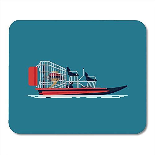 Mause Mat Spielmatte Boot Cool Auf Freizeit Wasseraktivität Und Ökotourismus Airboat Fanboat Attraction Engine Mauspad 25X30Cm