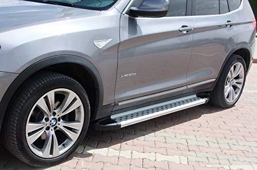 Trittbretter passend für BMW X3 ab Baujahr 2010 Model Olympus Chrom mit TÜV und ABE