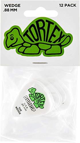 Dunlop 424 Púas TORTEX WEDGE Players verdes 0.88 mm