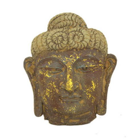 Asian Home Antique Reproduction Wall Decor Buddha Mask