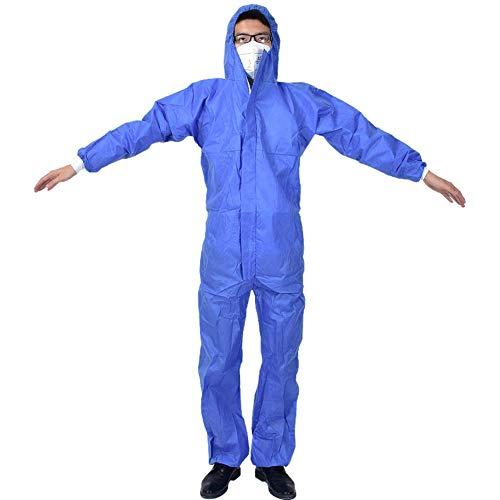 PREMOD Isolationsanzug, Einweg-Schutzanzug Für Viren Antibakterielle Antiviren-Isolationskleidung Chemischer Schutzanzug Staubschutz,XL