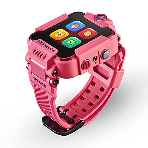 TickTalk 4 Unlocked 4G LTE Kids Smart Watch Phone withGPS Tracker, Combines Video, Voice and Wi-Fi Calling, Messaging, 2X Cameras & Free Streaming Music