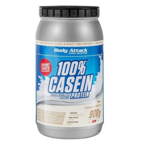 Body Attack Casein Protein 2 x 900g Dose 2er Pack Vanille Cream