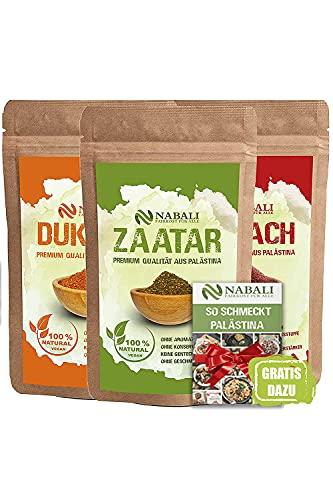 NABALI FAIRKOST Zaatar & Dukkah & Sumach productos de calidad de Palestina I 100% natural aromático Tradicionalmente fresco Oriental I sin conservantes I vegano (50g)