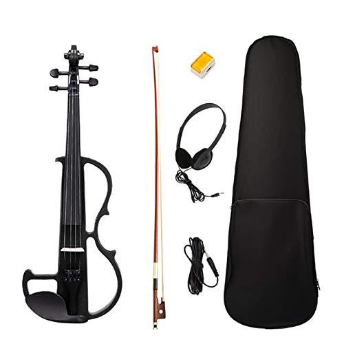 Kuinayouyi Principiante 4/4 Violino Elettrico Ebano Violino Silenzioso Violino Elettrico Introduzione Set