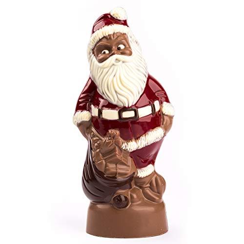 Weihnachtsmann Schokolade groß - 32cm - Vollmilch 495g - Deutsche Handarbeit ideal als Geschenk - von Schokoladen-Sommelière Stefanie Bengelmann